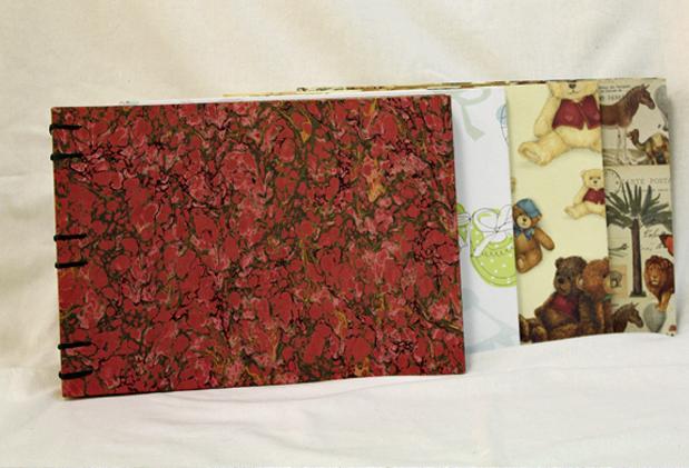 Curso encuadernación copta de hojas sueltas